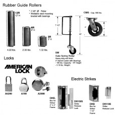 Guide Rollers and caster wheels and locks