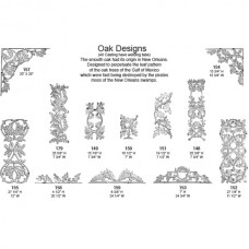Cast Aluminum Oak and Grape Designs